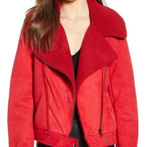 The Fifth Label Red Moto Jacket, Medium